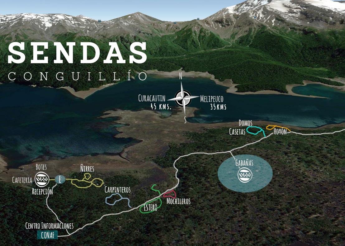 Mapa Parque Nacional Conguillio